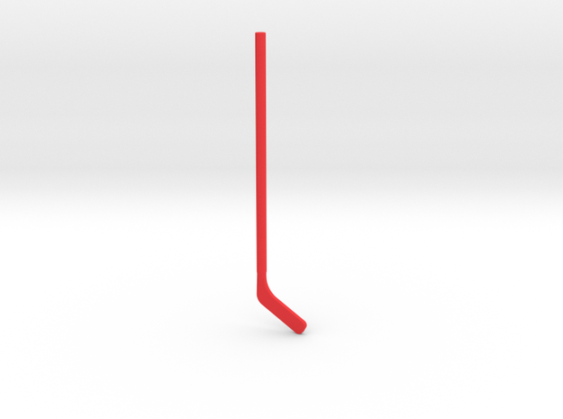 Hockey Stick for ModiBot in Red Strong & Flexible Polished