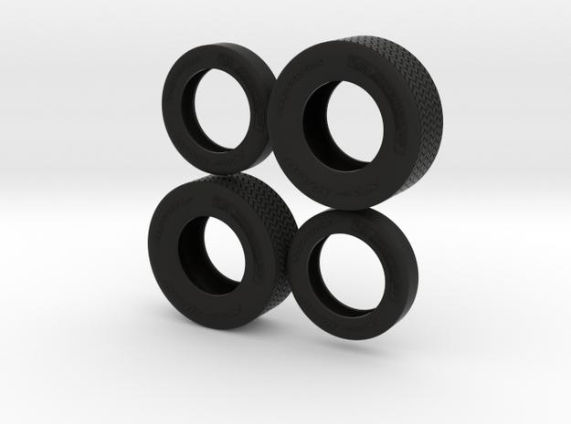 "1/25 22,5"" Truck-Tires in Black Natural Versatile Plastic"