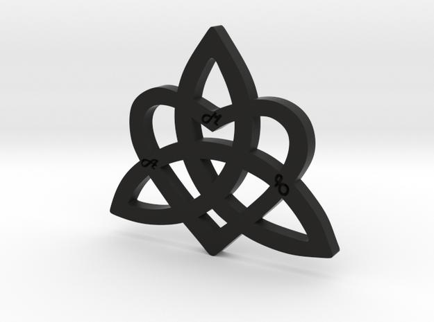 HEART & FAMILY 1 in Black Strong & Flexible: Medium