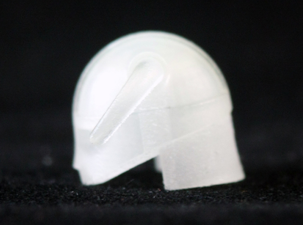 Iron Helmet 3d printed Frosted Ultra Detail