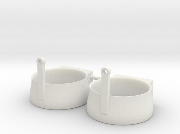 SMIT BRONCO nozzle (2pcs) in White Natural Versatile Plastic