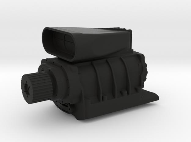 Roots-Compressor-V8 in Black Natural Versatile Plastic