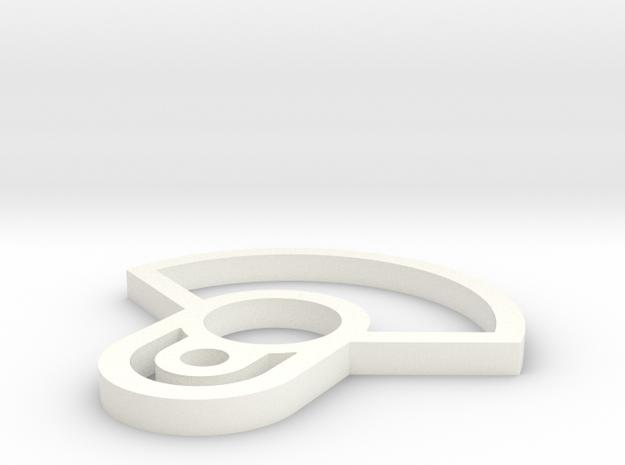 Commander Back Plate Piece in White Processed Versatile Plastic