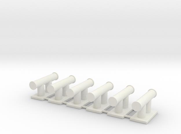 TEMPEST bollard aft (6pcs) in White Natural Versatile Plastic
