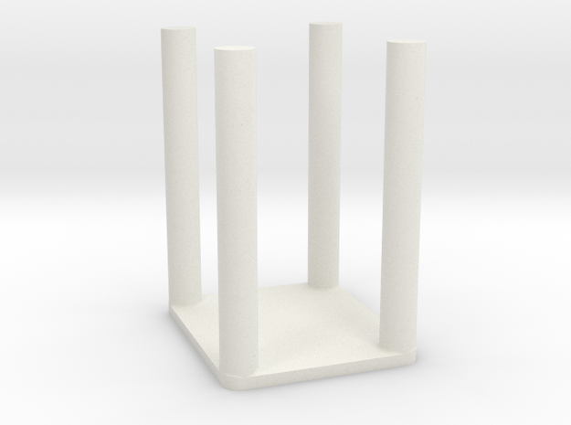 1/10 SCALE GROW ROOM TABLE in White Natural Versatile Plastic: 1:10