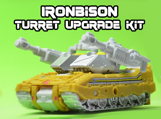 IronBison Turret Upgrade Kit in White Strong & Flexible
