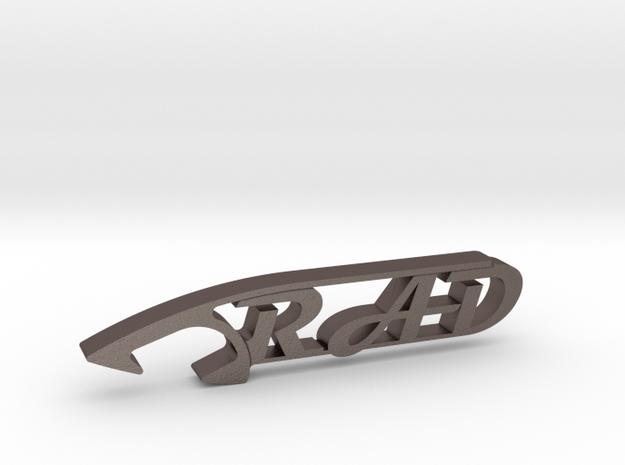 RAD BEER BOTTLE OPENER in Polished Bronzed Silver Steel