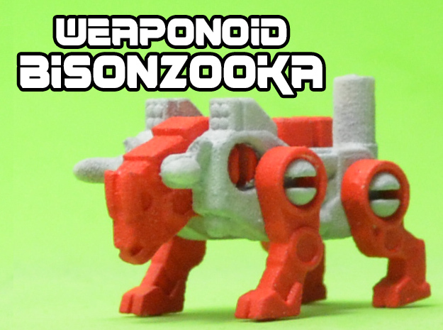 BisonZooka Transforming Weaponoid Kit (5mm) in White Natural Versatile Plastic