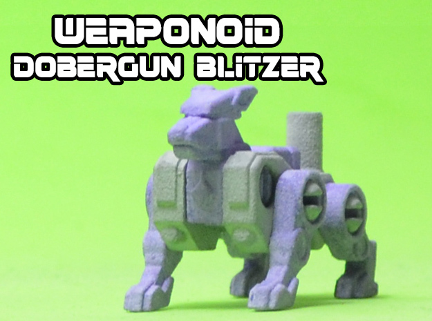 Dobergun Blitzer Transforming Weaponoid Kit (5mm) in White Natural Versatile Plastic