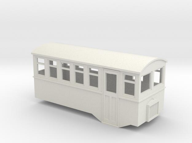 5.5mm scale 4 wheel railbus in White Natural Versatile Plastic