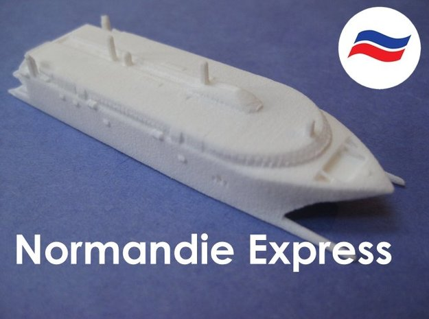 HSC Normandie Express (1:1200) in White Natural Versatile Plastic: 1:1200