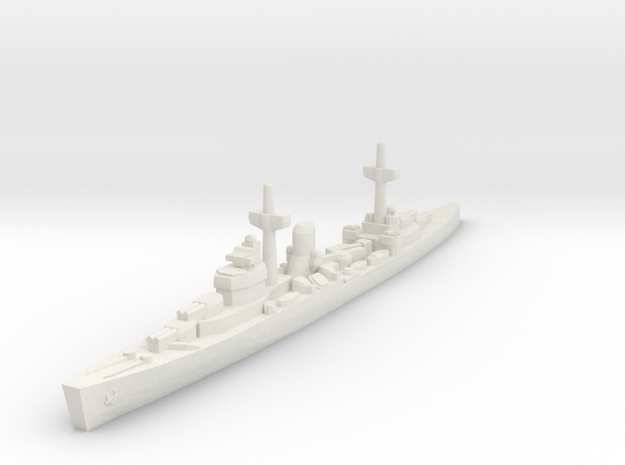 Leander class (WWII) 1/1800 in White Natural Versatile Plastic