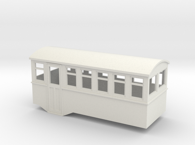 HOe 4w railbus trailer  in White Strong & Flexible