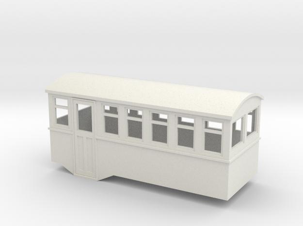 HOe 4w railbus trailer  in White Strong & Flexible