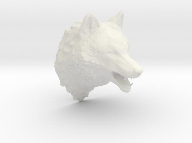 Woolf head in White Natural Versatile Plastic