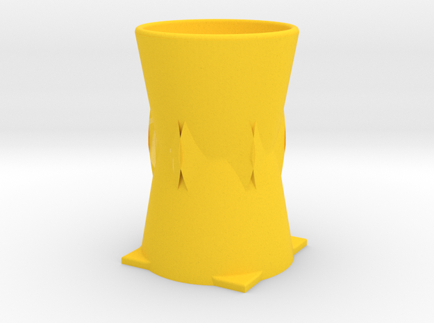 vase in Yellow Processed Versatile Plastic