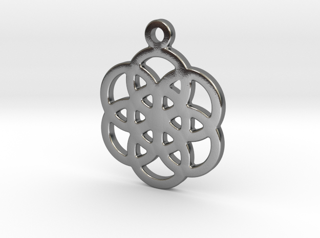 Flower Of Life in Polished Silver