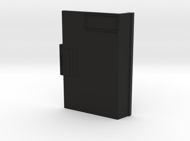 HP-71B Aux Door in Black Natural Versatile Plastic