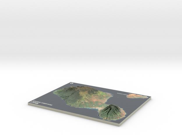 Maui Map, Hawaiian Islands in Coated Full Color Sandstone