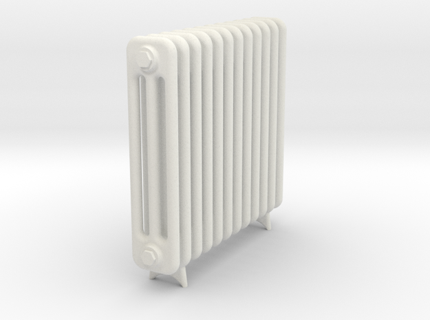 Radiator 12 Rippen mit Fuss in White Strong & Flexible