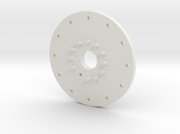 "1.9 MILITANT WHEEL COVER,FOR A ""GLUED"" 1.9 (AXIAL in White Natural Versatile Plastic: 1:10"