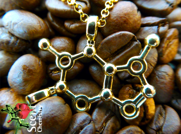 Caffeine in 18k Gold Plated
