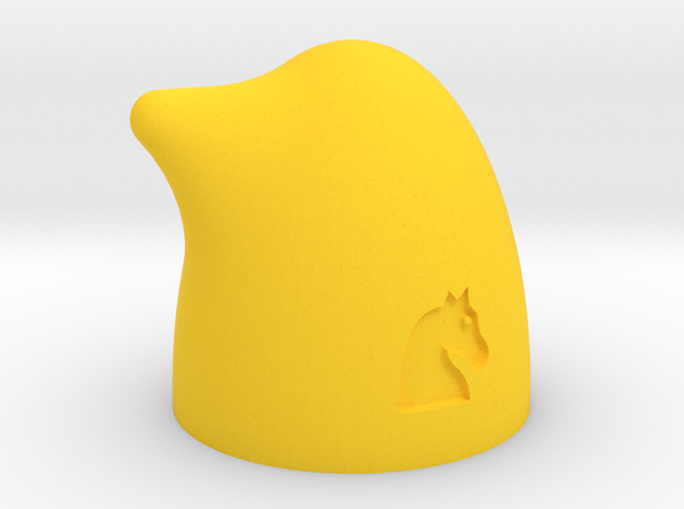 MILOSAURUS Chess Shatranj Knight (asb) in Yellow Processed Versatile Plastic