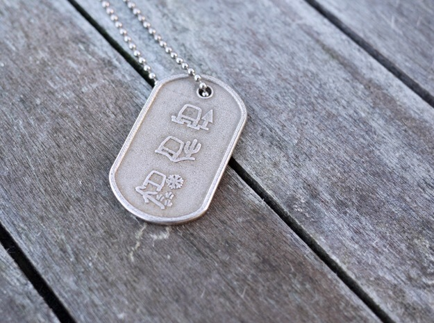 All-Terrain Tag in Polished Bronzed Silver Steel
