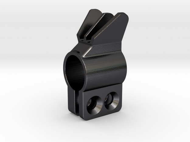 """.563"""" ID Clamp-on front sight in Polished Grey Steel"""