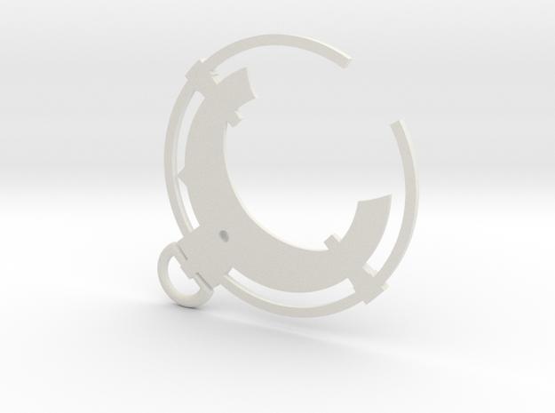 Dishonored - Black Bone Charm  in White Natural Versatile Plastic