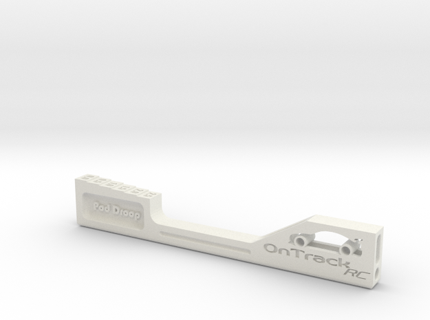 Pod Droop Gauge in White Natural Versatile Plastic