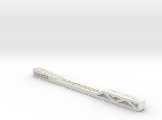 Pod Droop Gauge - Version 2 in White Natural Versatile Plastic