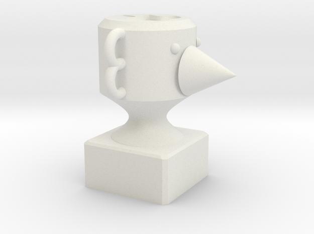 105 - Ascii (repaired) in White Natural Versatile Plastic