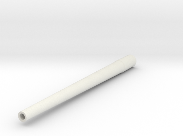 1/16 M10 Wolverine Barrel (3in Gun M7) in White Natural Versatile Plastic