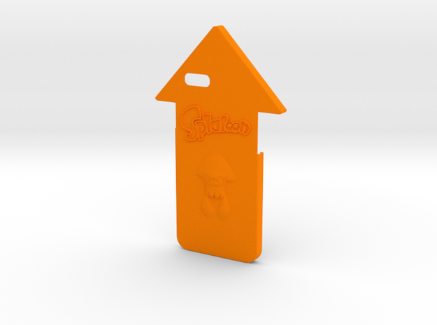Iphone 6/6s Squid Case in Orange Processed Versatile Plastic