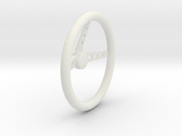 Steering Wheel V3 1/8 in White Natural Versatile Plastic