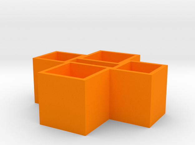 Usb Strong Box0.0 in Orange Strong & Flexible Polished