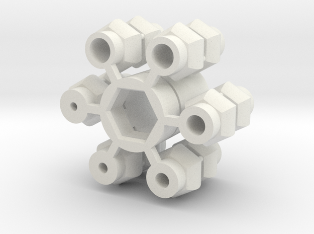 Universal Joint - Single version in White Strong & Flexible