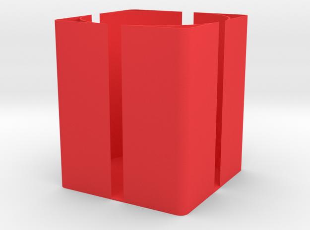 Pen holder in Red Processed Versatile Plastic