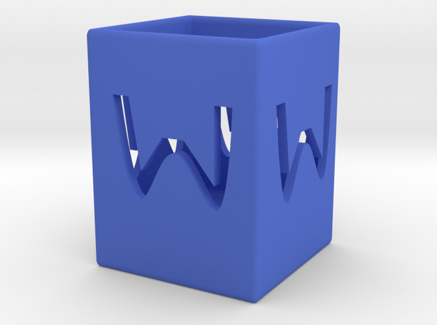 W save the tube   in Blue Strong & Flexible Polished