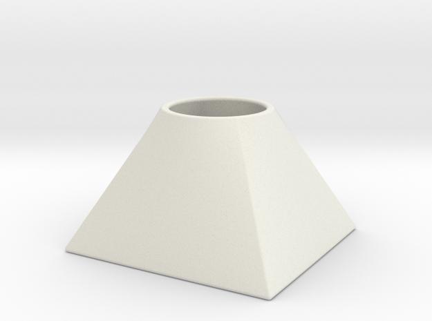 Conical pen in White Natural Versatile Plastic