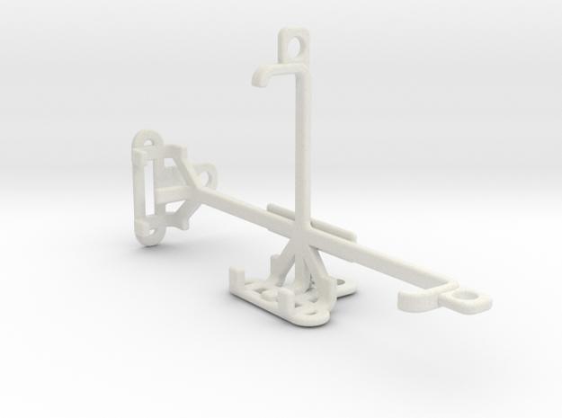 Posh Kick Lite S410 tripod & stabilizer mount in White Natural Versatile Plastic
