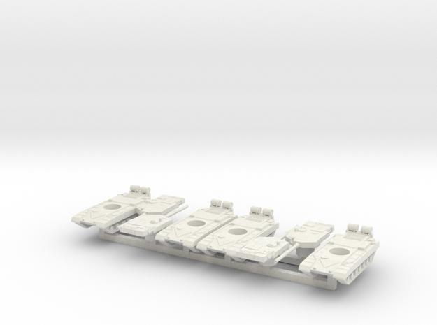 1/300 Indian Arjun Tank x4 in White Natural Versatile Plastic