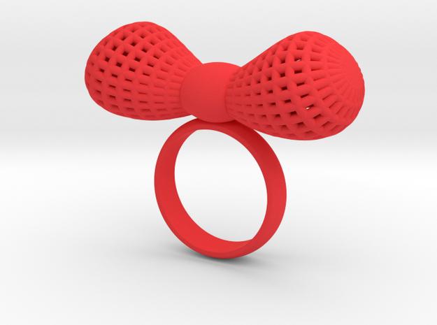 Bowtie ring in Red Processed Versatile Plastic: 7 / 54