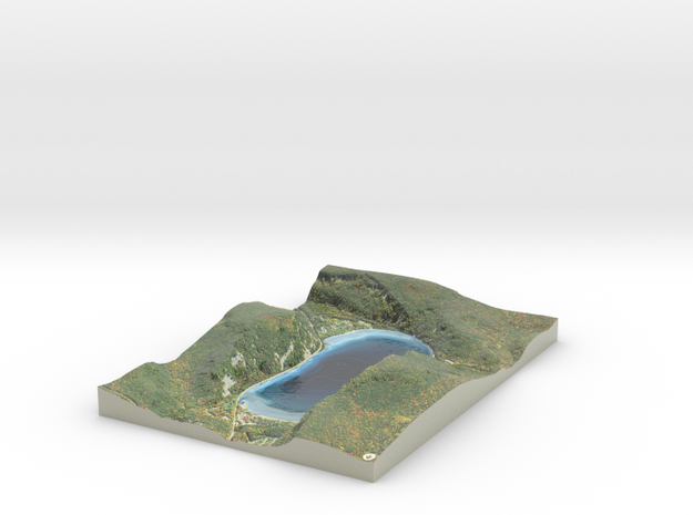 Devil's Lake Map - Bathymetry in Coated Full Color Sandstone
