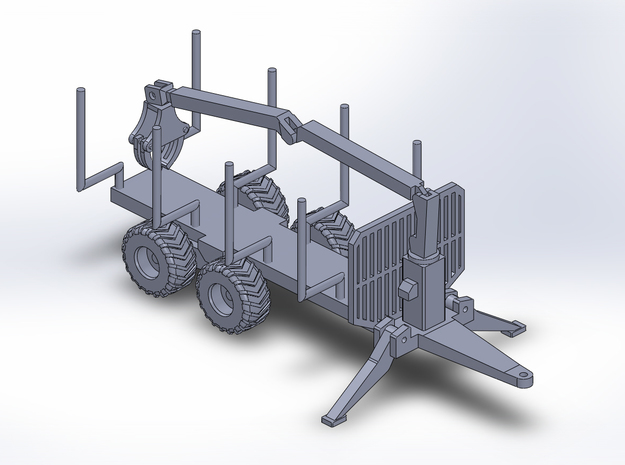 NEW!!! 1:160/N-Scale Forest Trailer  With Crane in Smooth Fine Detail Plastic