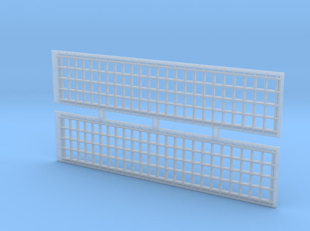 2 X EMD GP 38 Radiator Grill Front 1:64 S Scale in Smooth Fine Detail Plastic: 1:64 - S