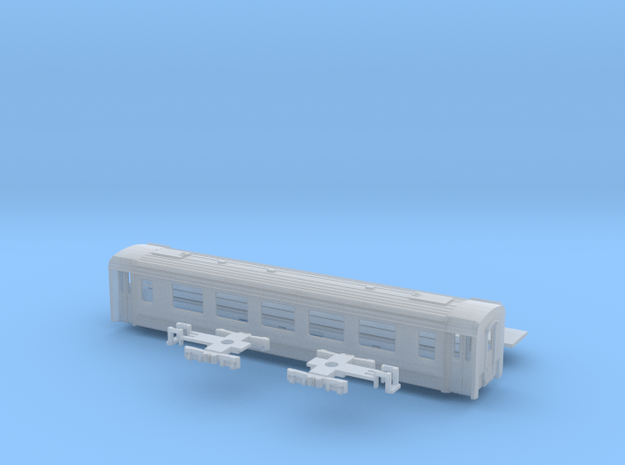 Passenger car type A-3S w/bogie in Smooth Fine Detail Plastic