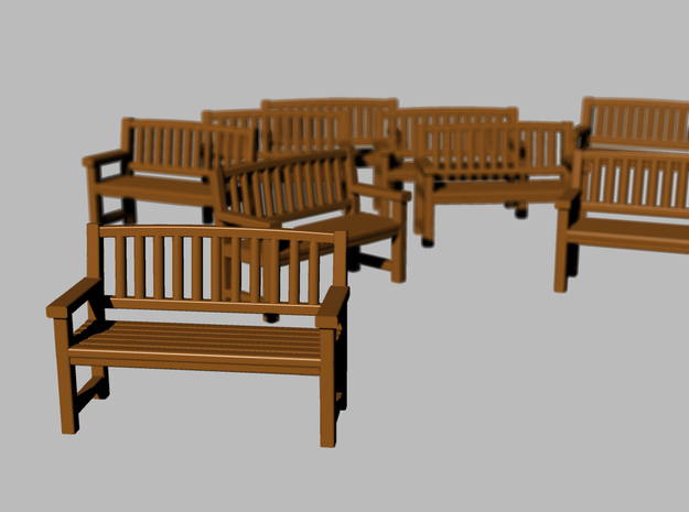 Bench type B - 1:72 scale 12 pcs  3d printed