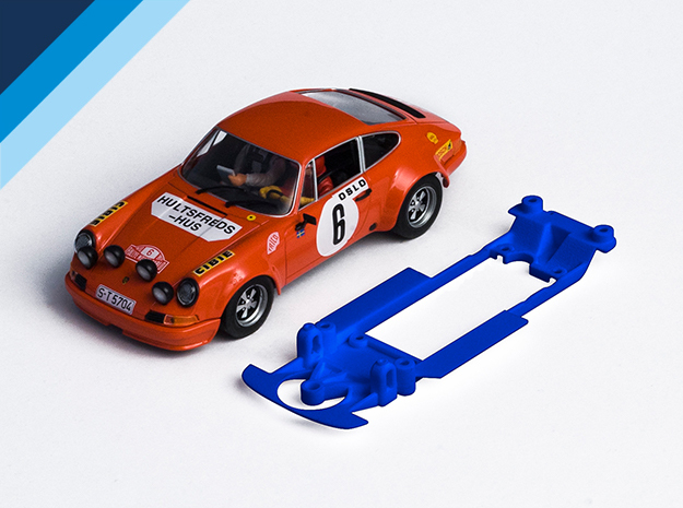 1/32 Fly Porsche 911 / 934 Chassis Slot.it IL pod in Blue Strong & Flexible Polished